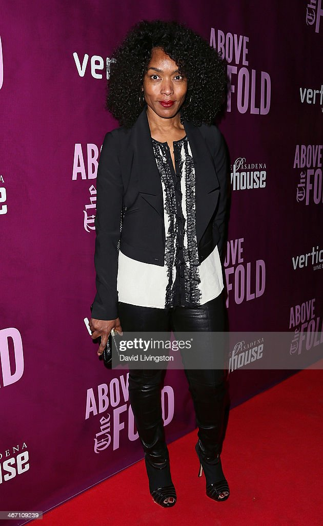 Actress <a gi-track='captionPersonalityLinkClicked' href=/galleries/search?phrase=Angela+Bassett&family=editorial&specificpeople=171174 ng-click='$event.stopPropagation()'>Angela Bassett</a> attends the opening night performance of 'Above the Fold' at the Pasadena Playhouse on February 5, 2014 in Pasadena, California.
