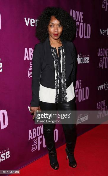 Actress Angela Bassett attends the opening night performance of 'Above the Fold' at the Pasadena Playhouse on February 5 2014 in Pasadena California