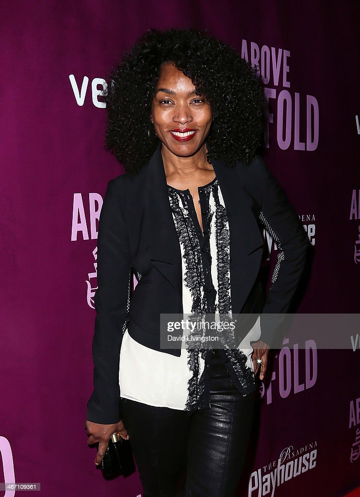 Actress Angela Bassett attends the opening night performance of 'Above the Fold' at the Pasadena Playhouse on February 5, 2014 in Pasadena, California.