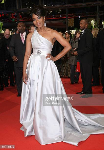Actress Angela Bassett attends the premiere for 'Notorious' as part of the 59th Berlin Film Festival at the Berlinale Palast on February 11 2009 in...