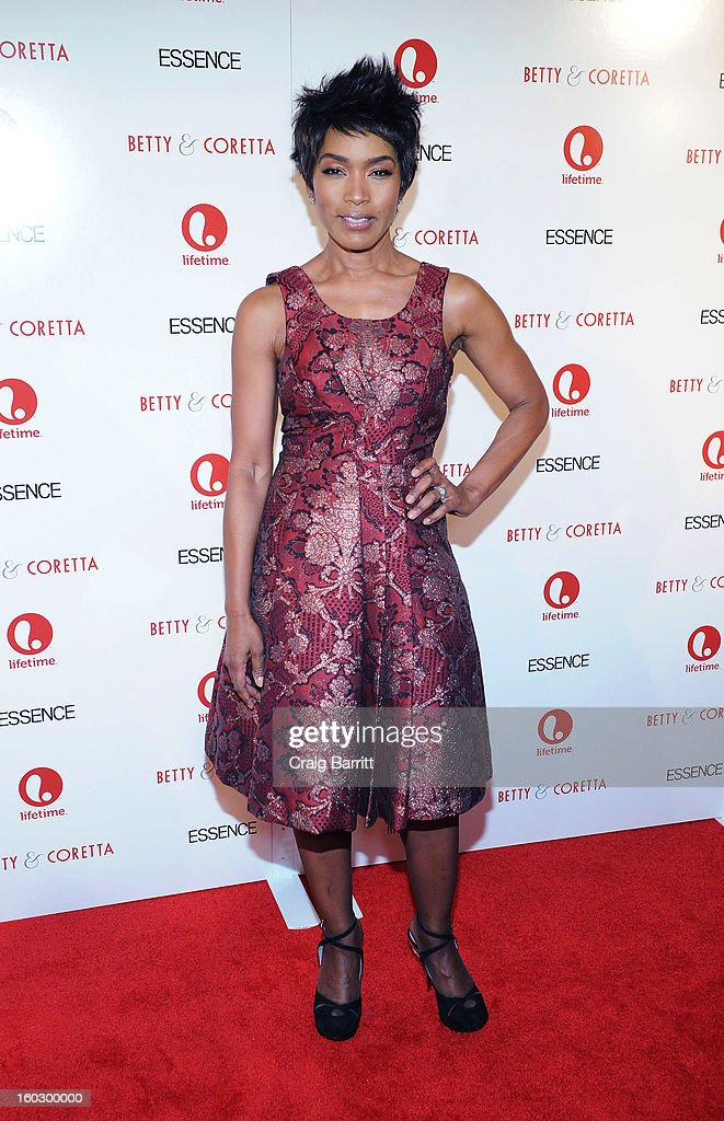 Actress Angela Bassett attends the premiere of 'Betty & Coretta' to celebrate with Lifetime and cast at Tribeca Cinemas on January 28, 2013 in New York City.