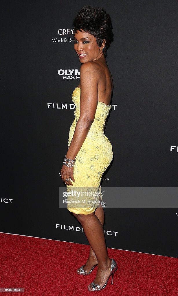 Actress Angela Bassett attends the Premiere of FilmDistrict's 'Olympus Has Fallen' at the ArcLight Cinemas Cinerama Dome on March 18, 2013 in Hollywood, California.