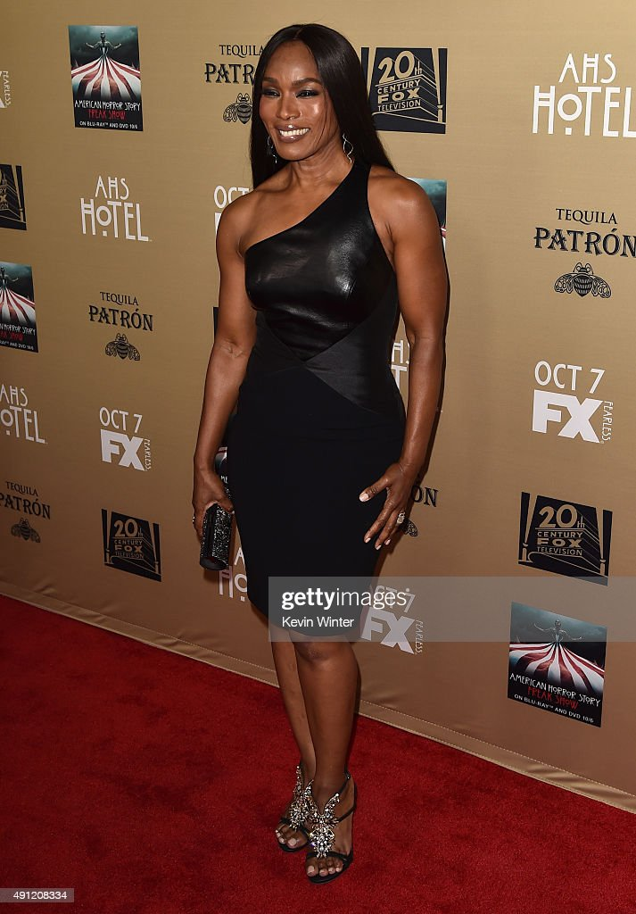 Actress Angela Bassett attends the premiere screening of FX's 'American Horror Story Hotel' at Regal Cinemas LA Live on October 3 2015 in Los Angeles...