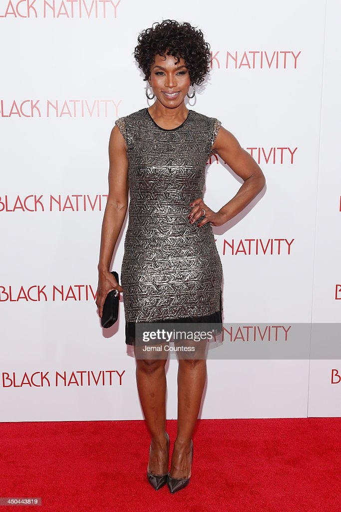 Actress <a gi-track='captionPersonalityLinkClicked' href=/galleries/search?phrase=Angela+Bassett&family=editorial&specificpeople=171174 ng-click='$event.stopPropagation()'>Angela Bassett</a> attends the'Black Nativity' premiere at The Apollo Theater on November 18, 2013 in New York City.