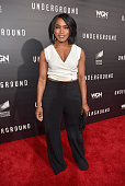 Actress Angela Bassett attends WGN America's 'Underground' World Premiere on March 2 2016 in Los Angeles California