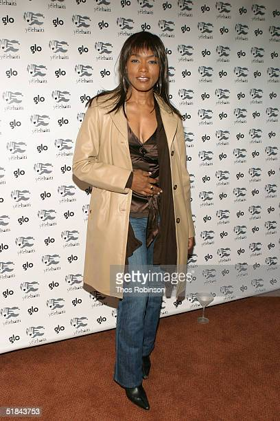 Actress Angela Bassett attends 'Yele Haiti' Cocktail Party And Art Exhibit at Glo December 9 2004 in New York City