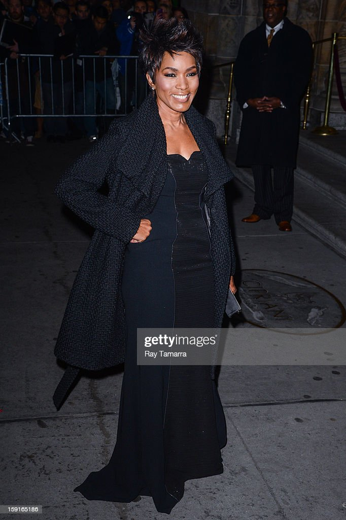 Actress Angela Bassett enters Cipriani 42nd Street on January 8, 2013 in New York City.