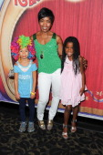 Actress Angela Bassett son Slater Josiah and daughter Brownwyn Golden attend the celebrity premiere of Ringling Bros and Barnum Bailey's 'Built To...