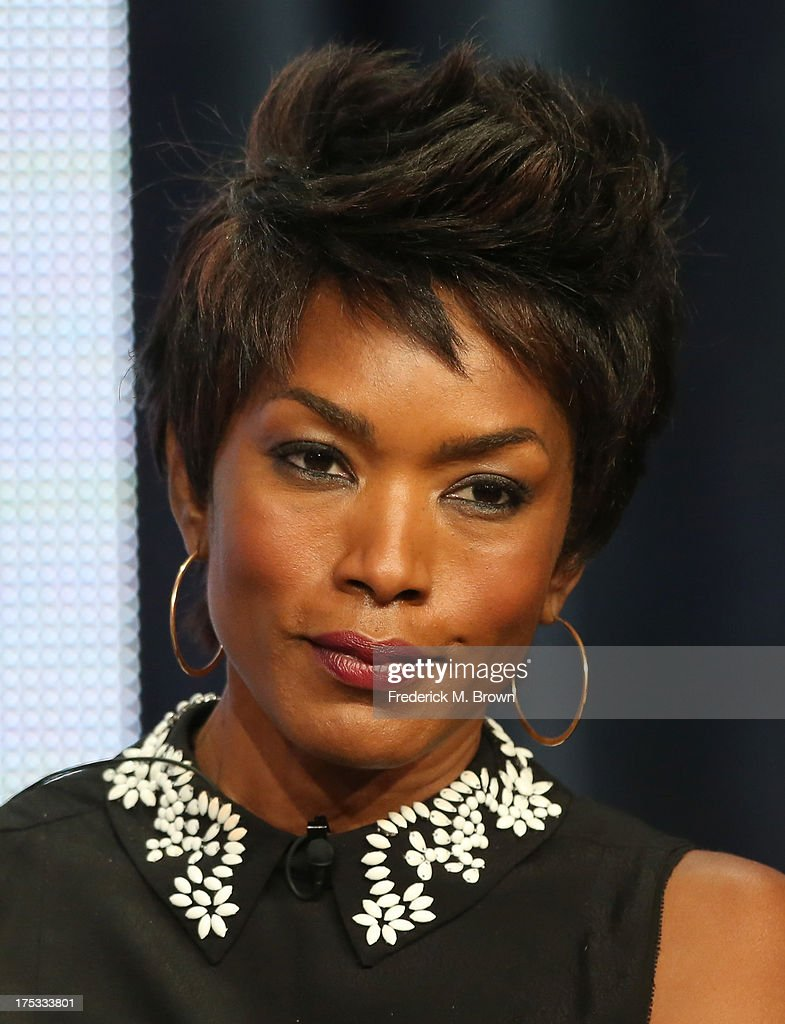 Actress <a gi-track='captionPersonalityLinkClicked' href=/galleries/search?phrase=Angela+Bassett&family=editorial&specificpeople=171174 ng-click='$event.stopPropagation()'>Angela Bassett</a> speaks onstage during the 'American Horror Story: Coven' panel discussion at the FX portion of the 2013 Summer Television Critics Association tour - Day 10 at The Beverly Hilton Hotel on August 2, 2013 in Beverly Hills, California.