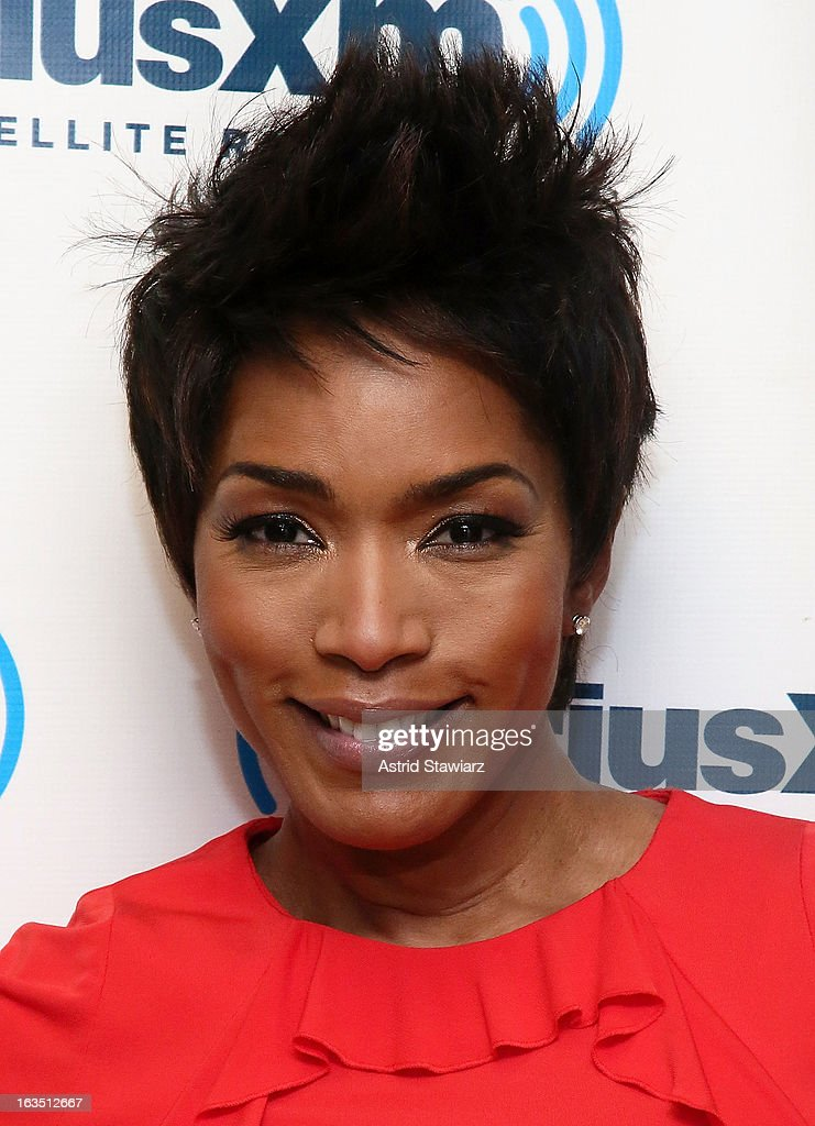 Actress Angela Bassett visits the SiriusXM studios on March 11, 2013 in New York City.