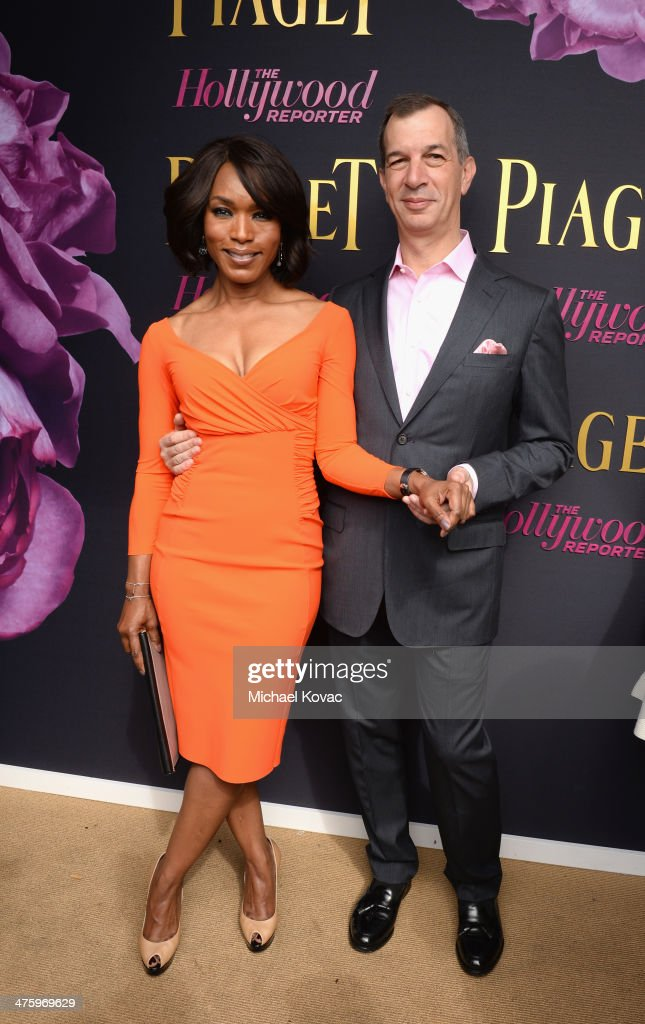 Actress Angela Bassett, wearing Piaget, and CEO of Piaget Philippe Leopold-Metzger pose in the Piaget Lounge during the 2014 Film Independent Spirit Awards at Santa Monica Beach on March 1, 2014 in Santa Monica, California.