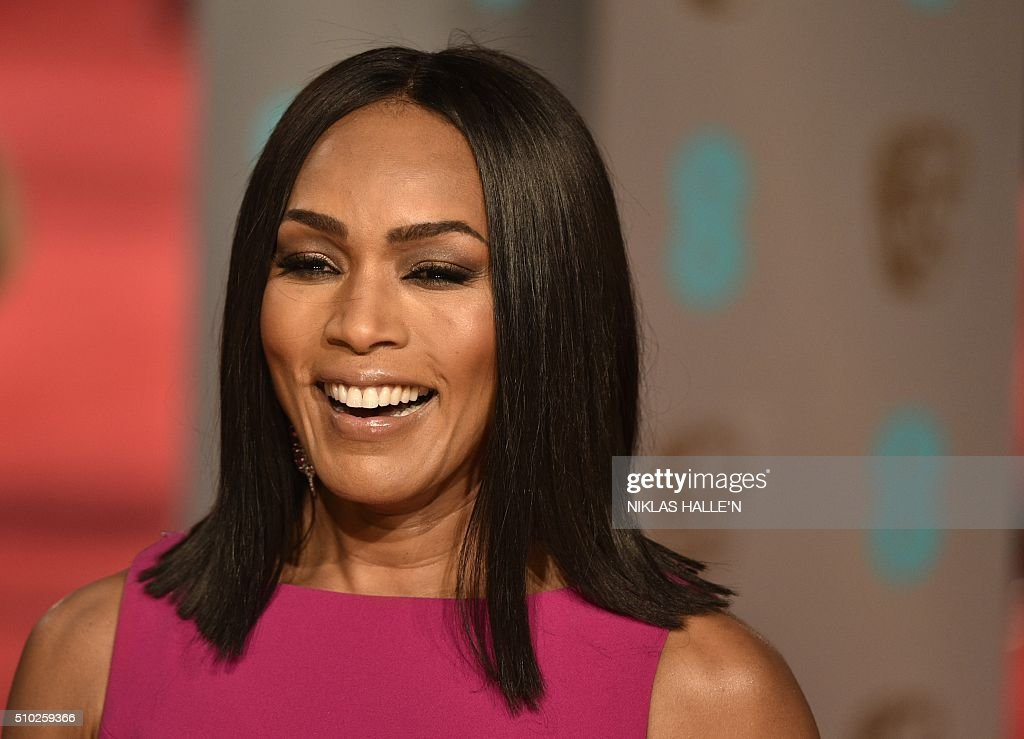 US actress Angela Evelyn Bassett poses on arrival for the BAFTA British Academy Film Awards at the Royal Opera House in London on February 14, 2016. N