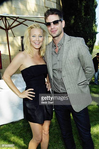 Actress Angela Featherstone and Actor Gale Harold attend the 8th Annual GLEH Garden Party on October 11 2009 in Los Angeles California