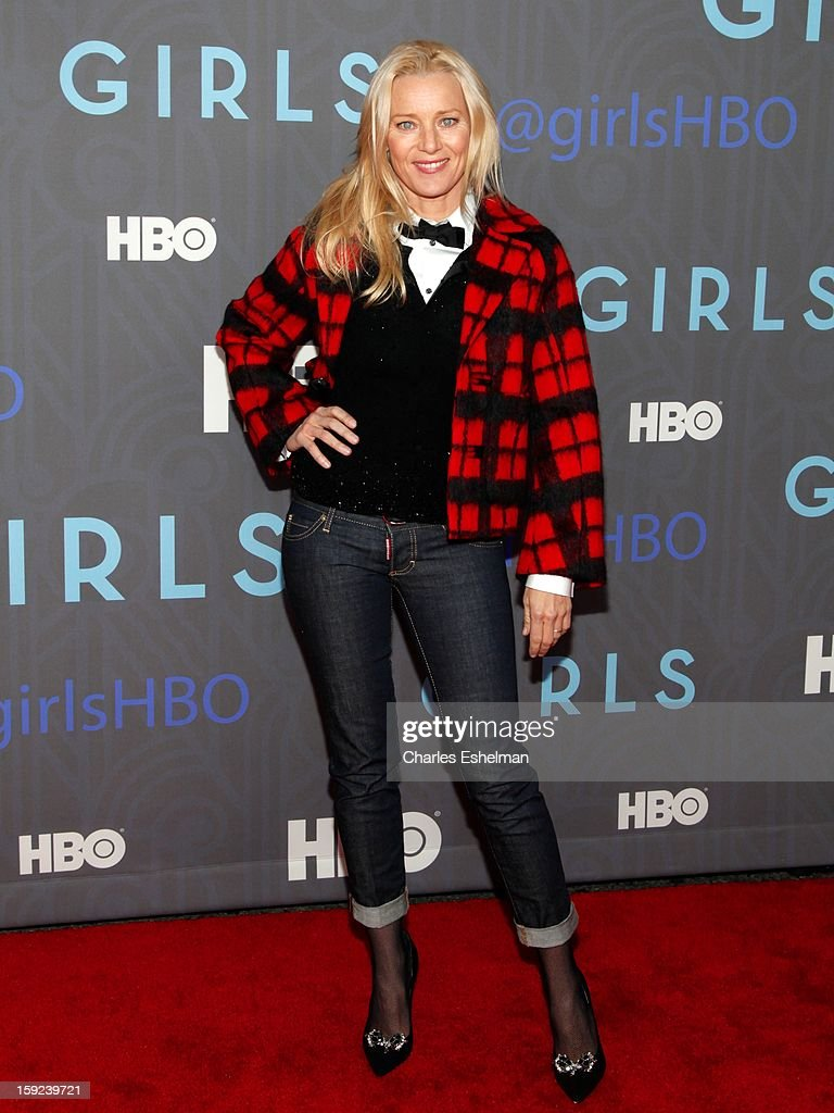 Actress Angela Featherstone attends HBO hosts the premiere of 'Girls' Season 2 at the NYU Skirball Center on January 9, 2013 in New York City.
