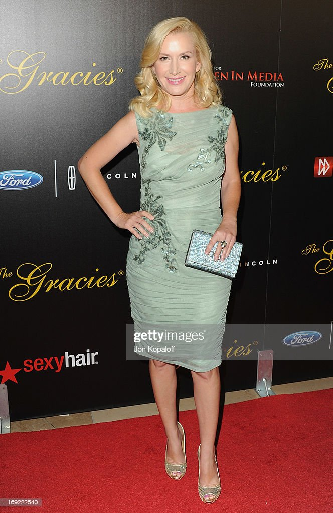 Actress Angela Kinsey arrives 38th Annual Gracie Awards Gala at The Beverly Hilton Hotel on May 21, 2013 in Beverly Hills, California.