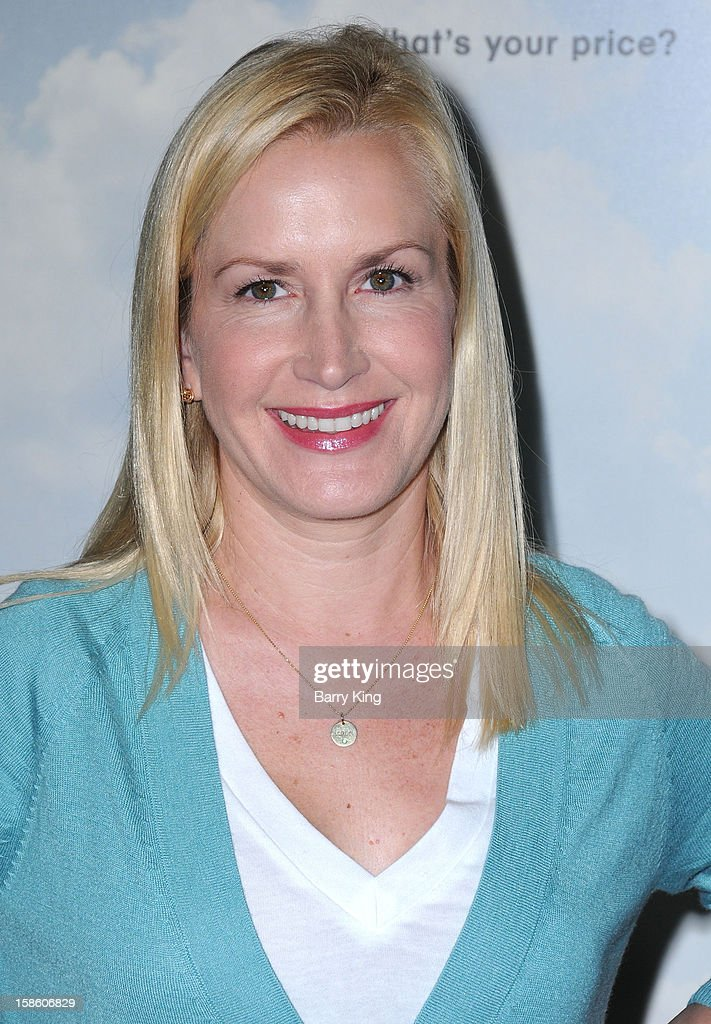 Actress Angela Kinsey arrives at the Los Angeles premiere of 'Promised Land' held at Directors Guild Of America on December 6, 2012 in Los Angeles, California.