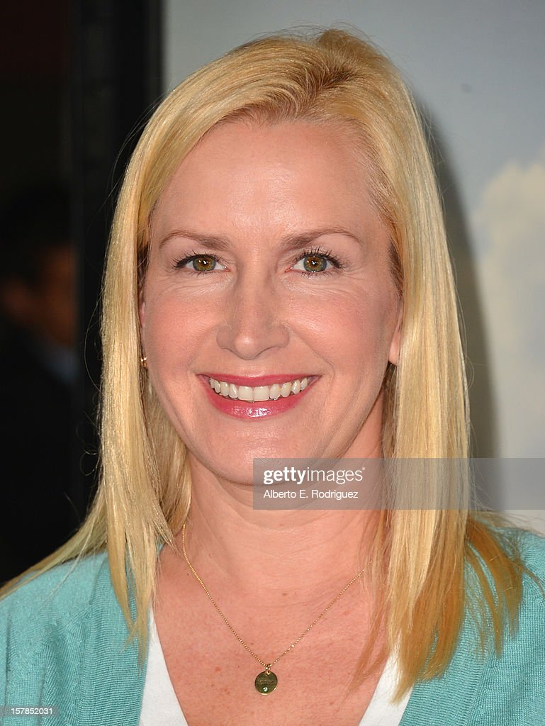 Actress Angela Kinsey arrives to the premiere of Focus Features' 'Promised Land' at the Directors Guild Of America on December 6, 2012 in Los Angeles, California.
