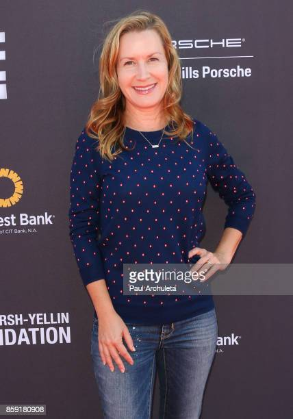 Actress Angela Kinsey attends PS ARTS' Express Yourself 2017 event at Barker Hangar on October 8 2017 in Santa Monica California