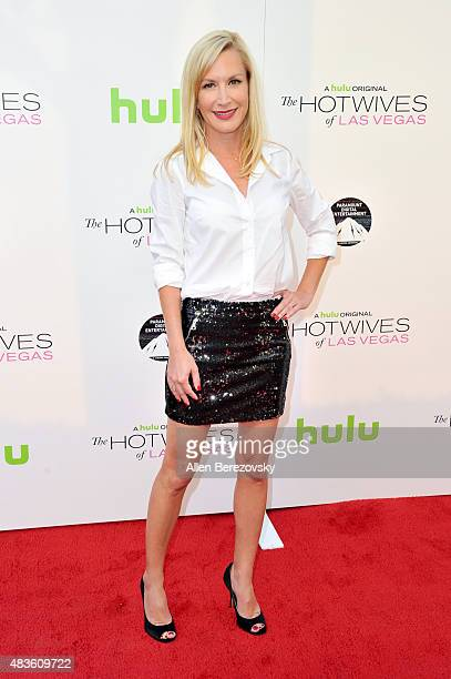 Actress Angela Kinsey attends the screening of Hulu and Paramount Digital Entertainment's 'The Hotwives Of Las Vegas' at Sherry Lansing Theatre at...