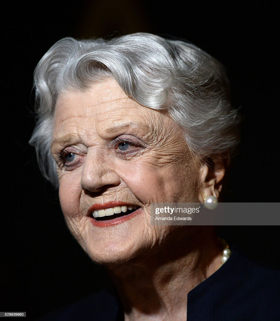 Actress Angela Lansbury arrives at the Academy's 25th Anniversary Screening of 'Beauty And the Beast': A Marc Davis Celebration of Animation at the Samuel Goldwyn Theater on May 9, 2016 in Beverly Hills, California.