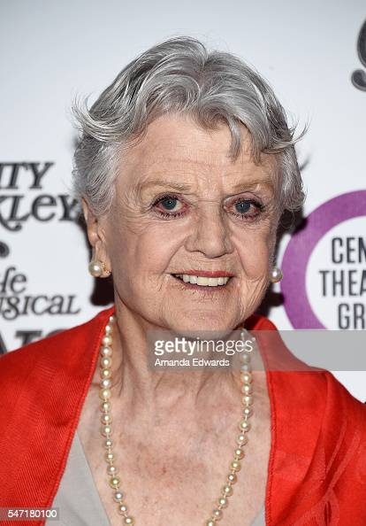 Actress Angela Lansbury arrives at the opening night of 'Grey Gardens' The Musical at the Ahmanson Theatre on July 13 2016 in Los Angeles California