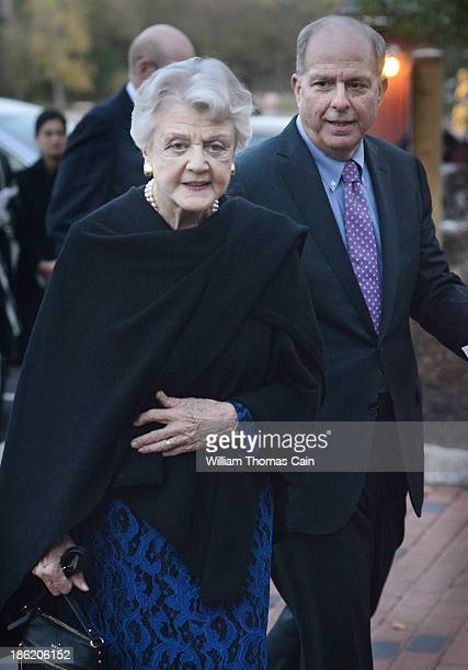 Actress Angela Lansbury arrives before being presented with a commemorative brick to be installed in the walkway October 28 2013 at the Bucks County...