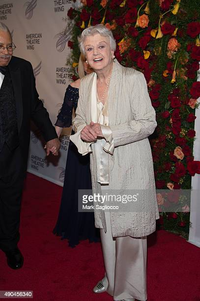 Actress Angela Lansbury attends the 2015 American Theatre Wing's Gala at The Plaza Hotel on September 28 2015 in New York City