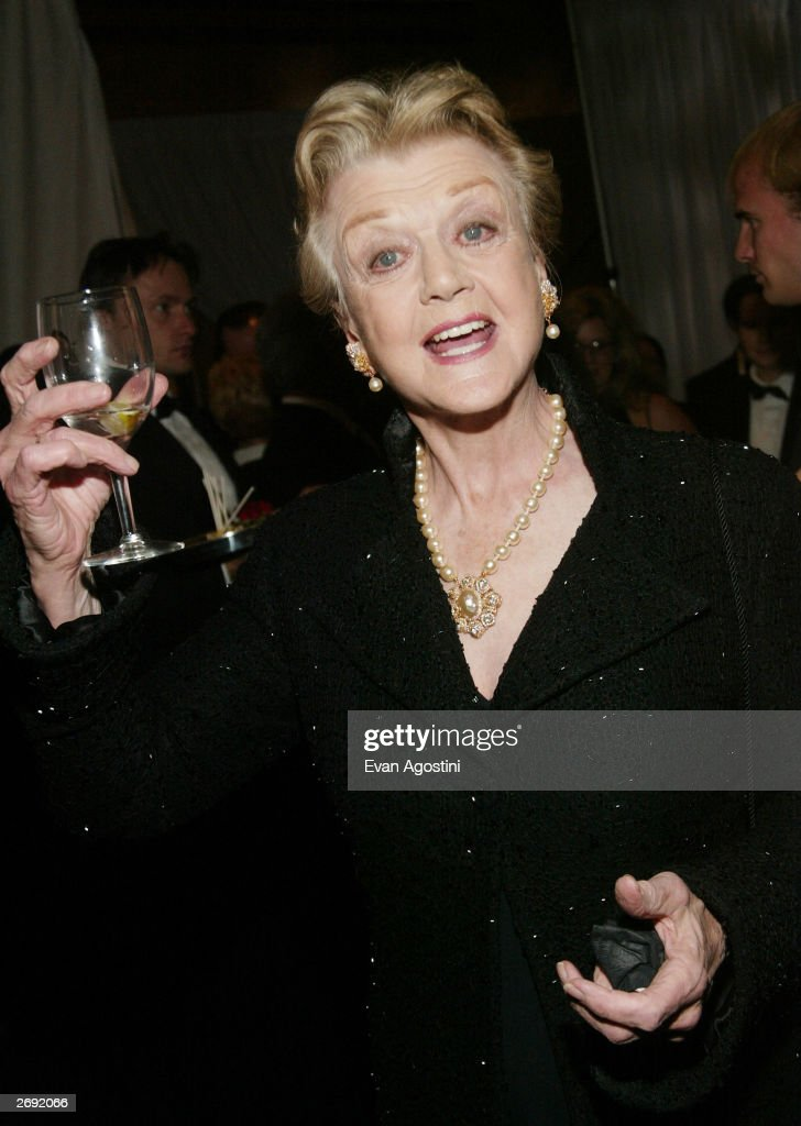 Actress Angela Lansbury attends the cocktail party for the 'CBS at 75' television gala at the Hammerstein Ballroom November 2, 2003 in New York City.