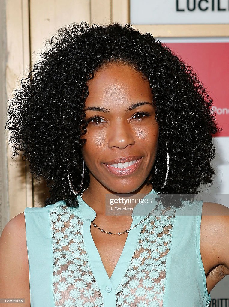 Actress Angela Lewis attends the 'Reasons To Be Happy' Broadway Opening Night at Lucille Lortel Theatre on June 11, 2013 in New York City.