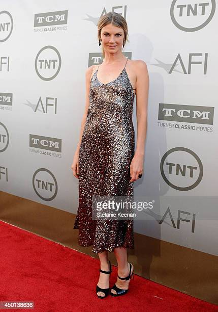 Actress Angela Lindvall attends the 2014 AFI Life Achievement Award A Tribute to Jane Fonda at the Dolby Theatre on June 5 2014 in Hollywood...
