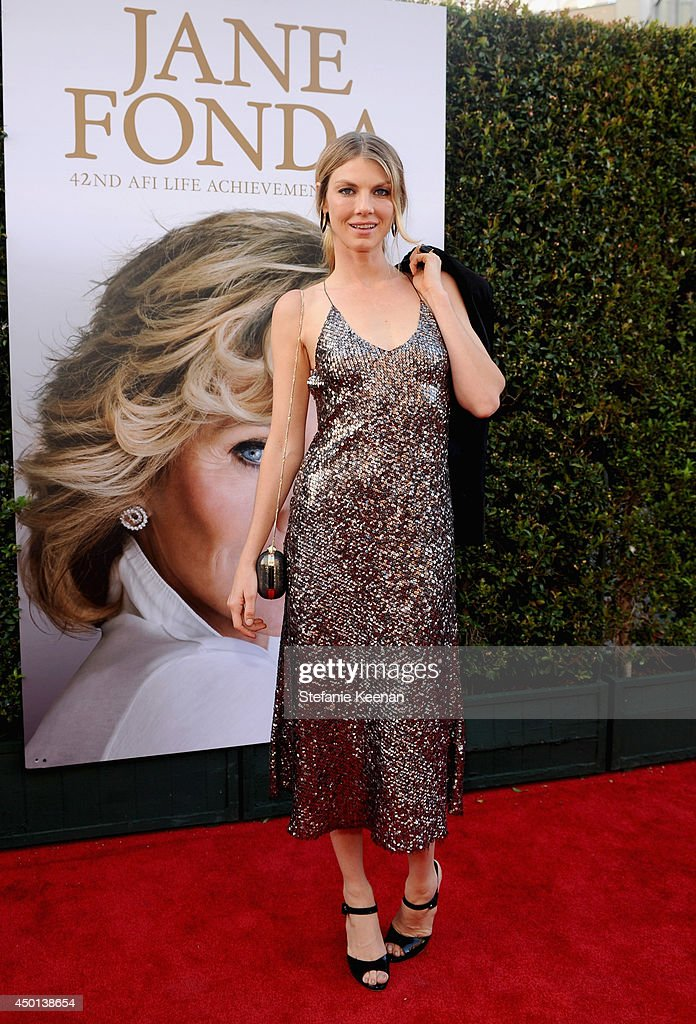 Actress <a gi-track='captionPersonalityLinkClicked' href=/galleries/search?phrase=Angela+Lindvall&family=editorial&specificpeople=206644 ng-click='$event.stopPropagation()'>Angela Lindvall</a> attends the 2014 AFI Life Achievement Award: A Tribute to <a gi-track='captionPersonalityLinkClicked' href=/galleries/search?phrase=Jane+Fonda&family=editorial&specificpeople=202174 ng-click='$event.stopPropagation()'>Jane Fonda</a> at the Dolby Theatre on June 5, 2014 in Hollywood, California. Tribute show airing Saturday, June 14, 2014 at 9pm ET/PT on TNT.