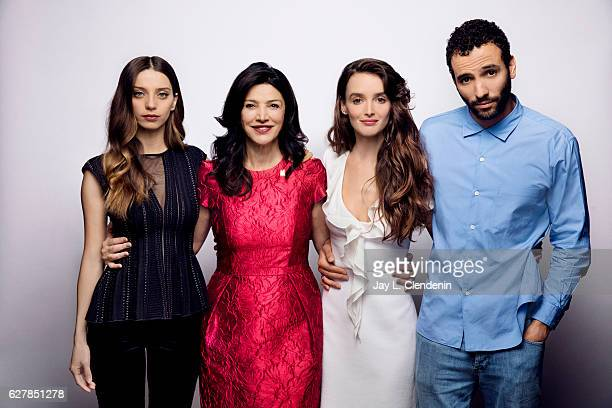 Actress Angela Sarafyan actress Shohreh Aghdashloo actress Charlotte Le Bon and Marwan Kenzari from the film 'The Promise' pose for a portrait at the...