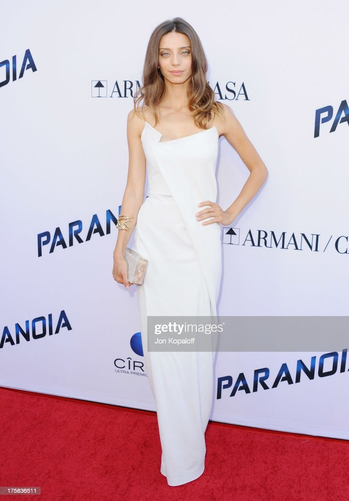 Actress <a gi-track='captionPersonalityLinkClicked' href=/galleries/search?phrase=Angela+Sarafyan&family=editorial&specificpeople=4365820 ng-click='$event.stopPropagation()'>Angela Sarafyan</a> arrives at the Los Angeles Premiere 'Paranoia' at DGA Theater on August 8, 2013 in Los Angeles, California.