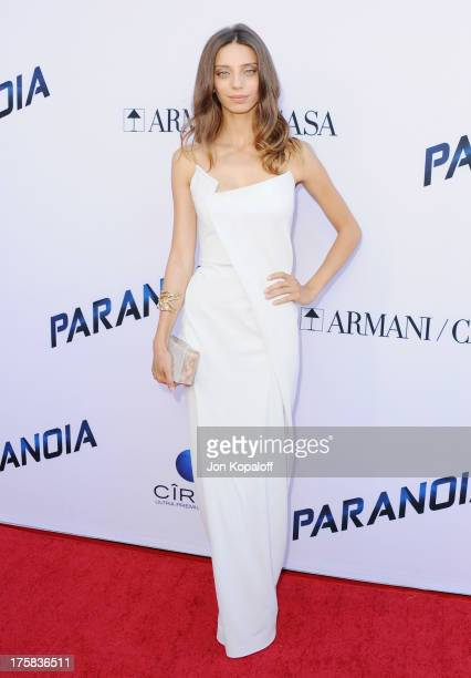 Actress Angela Sarafyan arrives at the Los Angeles Premiere 'Paranoia' at DGA Theater on August 8 2013 in Los Angeles California
