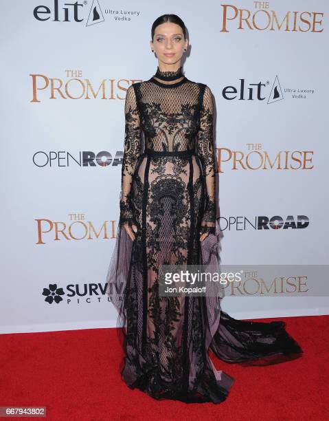 Actress Angela Sarafyan arrives at the Los Angeles Premiere 'The Promise' at TCL Chinese Theatre on April 12 2017 in Hollywood California