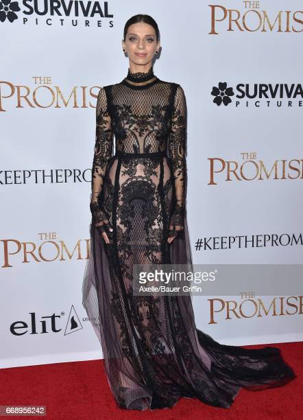Actress Angela Sarafyan arrives at the Premiere of Open Road Films' 'The Promise' at TCL Chinese Theatre on April 12 2017 in Hollywood California