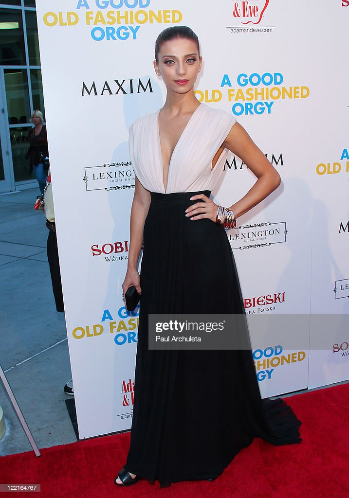 Actress Angela Sarafyan arrives at the screening for 'A Good Old Fashioned Orgy' on August 25 2011 in Los Angeles California