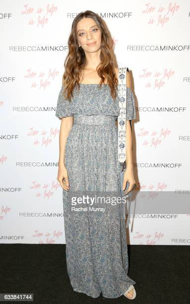 """Actress Angela Sarafyan attended designer Rebecca Minkoff's Spring 2017 """"See Now Buy Now"""" Fashion Show at The Grove on February 4 2017 in Los Angeles..."""