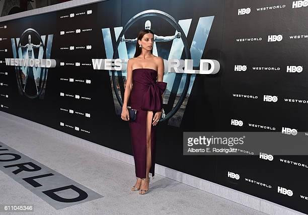 Actress Angela Sarafyan attends the premiere of HBO's 'Westworld' at TCL Chinese Theatre on September 28 2016 in Hollywood California