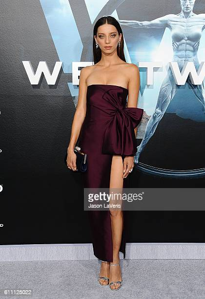 Actress Angela Sarafyan attends the premiere of 'Westworld' at TCL Chinese Theatre on September 28 2016 in Hollywood California
