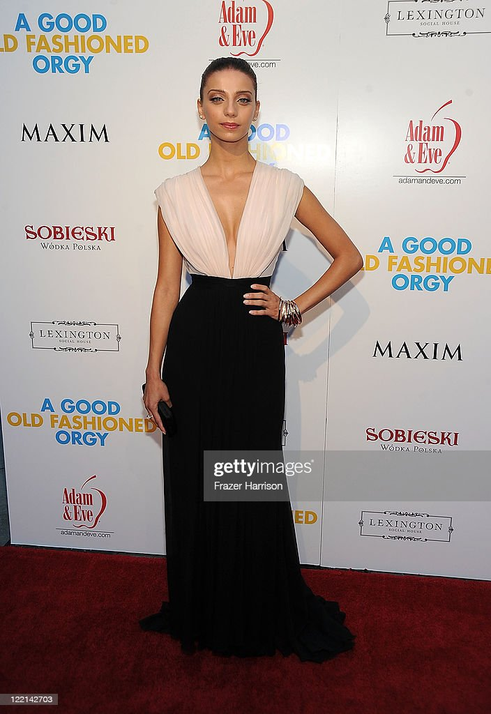 Actress Angela Sarafyan attends the screening of Samuel Goldwyn Films' 'A Good Old Fashioned Orgy' at Arclight Cinemas on August 25 2011 in Los...