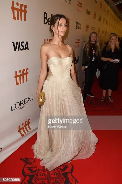 Actress Angela Sarafyan attends the 'The Promise' premiere during the 2016 Toronto International Film Festival at Roy Thomson Hall on September 11...