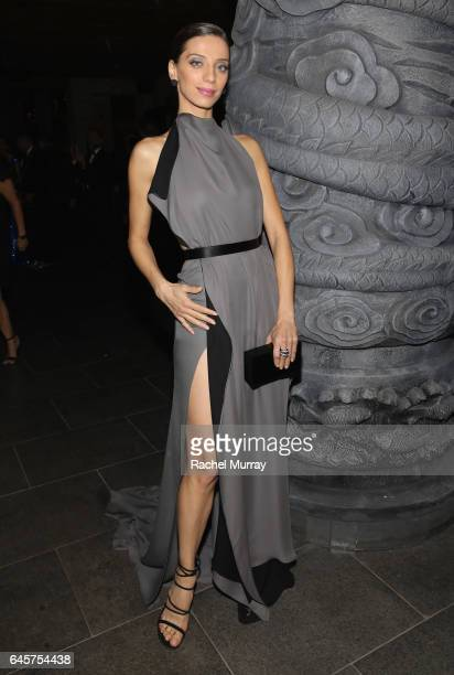 Actress Angela Sarafyan attends The Weinstein Company's Academy Awards viewing and after party in partnership with Grey Goose at TAO Los Angeles on...