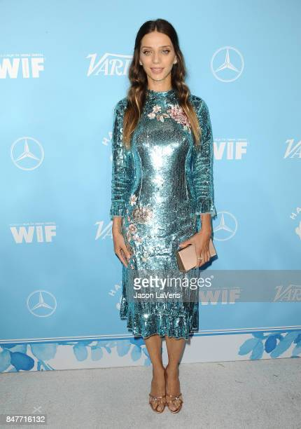 Actress Angela Sarafyan attends Variety and Women In Film's 2017 preEmmy celebration at Gracias Madre on September 15 2017 in West Hollywood...