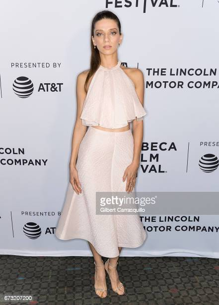 Actress Angela Sarafyan of 'The Promise' attends 'Intent to Destroy' Premiere during the 2017 Tribeca Film Festival at SVA Theater on April 25 2017...