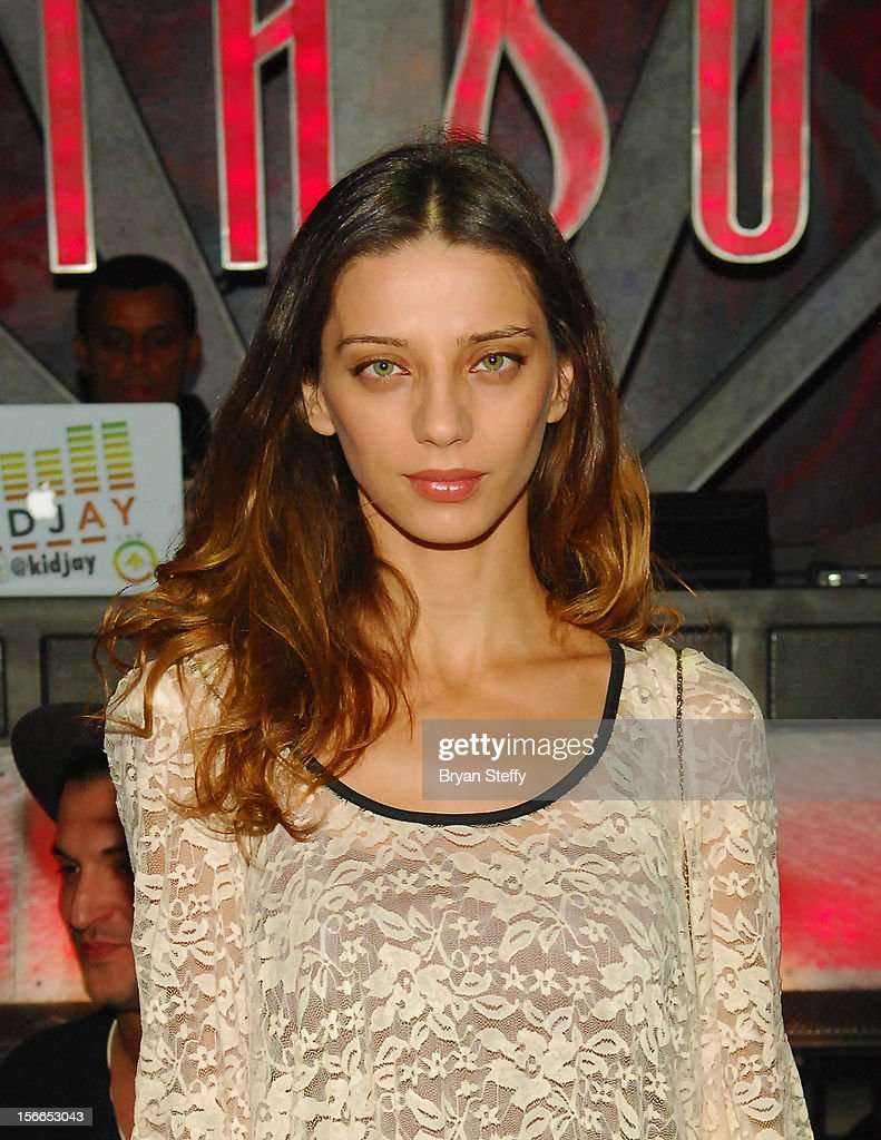 Actress Angela Sarafyn appears at the Tabu Ultra Lounge at the MGM Grand Hotel/Casino on November 17, 2012 in Las Vegas, Nevada.