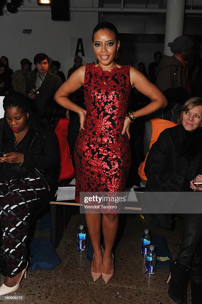 Actress Angela Simons attends Costello Tagliapietra duringFall 2013 MADE Fashion Week at Milk Studios on February 7, 2013 in New York City.