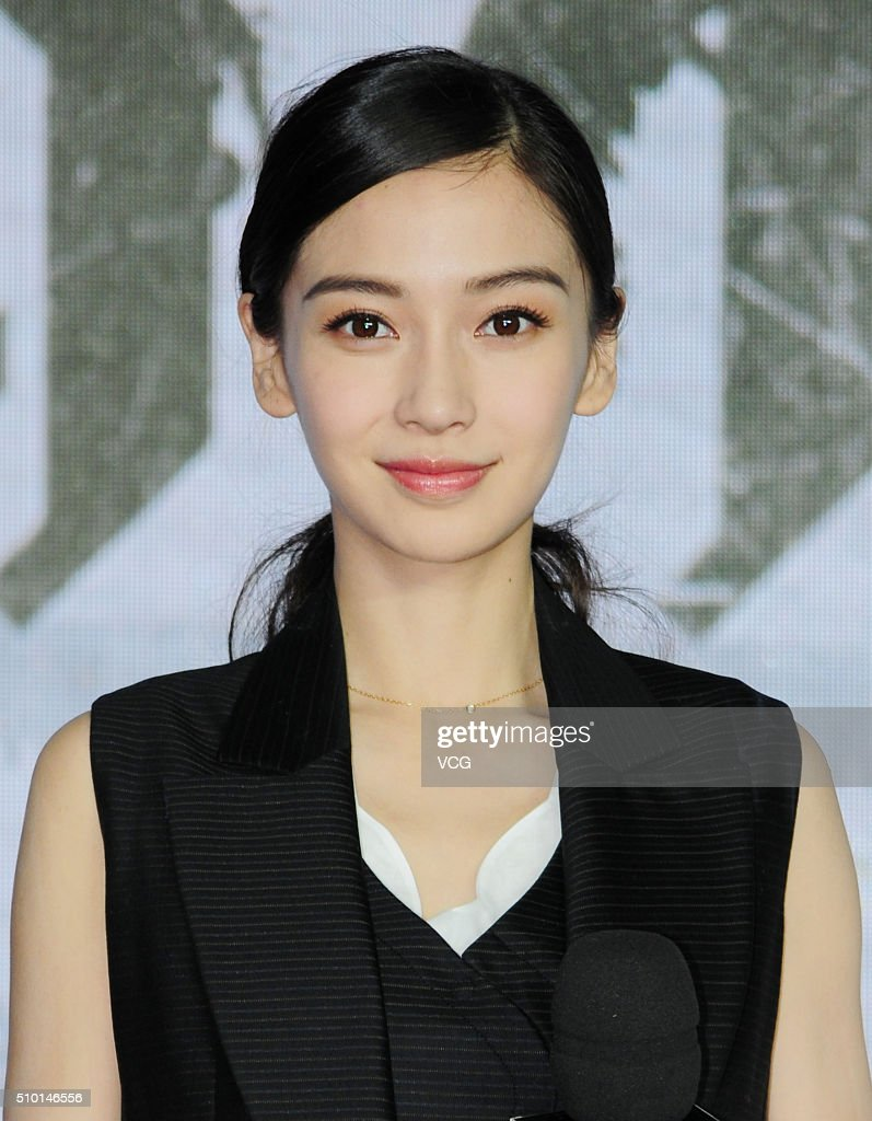 Actress <a gi-track='captionPersonalityLinkClicked' href=/galleries/search?phrase=Angelababy&family=editorial&specificpeople=5922162 ng-click='$event.stopPropagation()'>Angelababy</a> attends the press conference of director Fruit Chan Gor's film 'Kill Time' on February 14, 2016 in Shanghai, China.