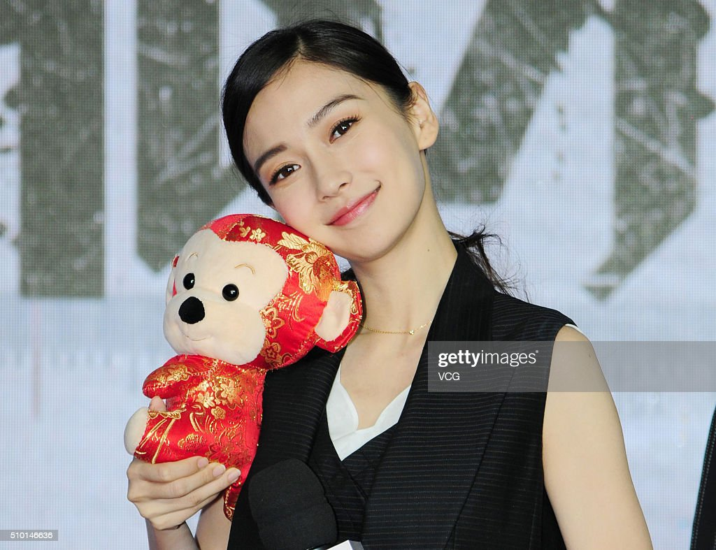 Actress Angelababy attends the press conference of director Fruit Chan Gor's film 'Kill Time' on February 14, 2016 in Shanghai, China.