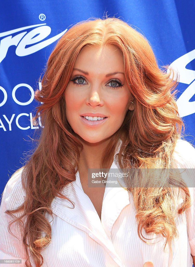 Actress Angelica Bridges arrives at the Sapphire Pool & Day Club grand opening party on May 4, 2013 in Las Vegas, Nevada.
